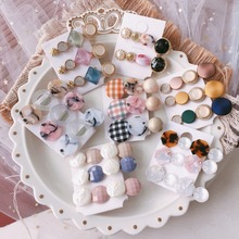 Korea Hair Accessories Circle Acrylic Geometric Clips For Girls Crystal  Bows Hairpins Barrette