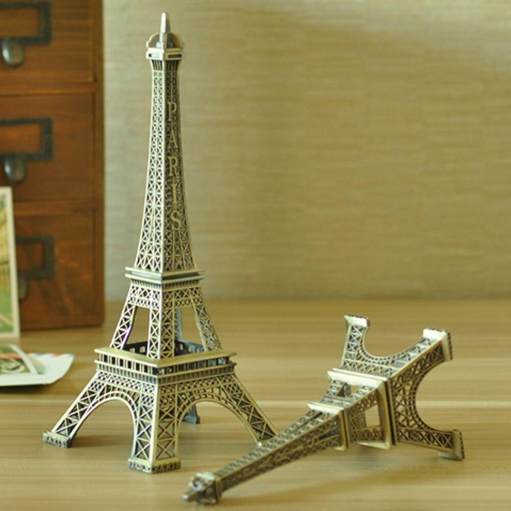 Bronze Color Paris Eiffel Tower Metal Crafts Statue Model Home Decors Alloy Different Size