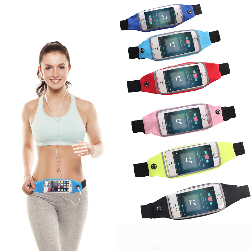 4-6 inch Universal armbands Waterproof Sports Gym Running Armband Waist Belt Outdoor Phone bag case holder for iphone XS max XR