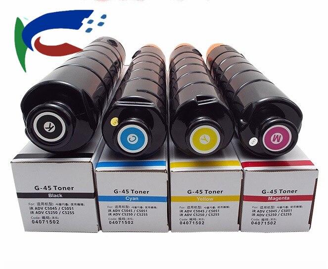 1set BK M C Y 4color BK720G CMY440G Toner Cartridge For NPG45 ADVC IRC 5051 5045 Photocopy Machine Copier Parts Office Electronics 249.48usd