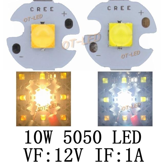 5PCS 10W 12V 1A tdled Ceramic 5050 Cold White Warm White High Power LED Emitter Diode instead of CREE XML XM-L T6 LED for DIY