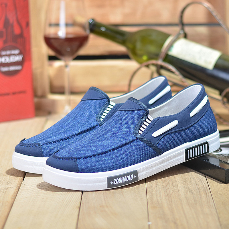 2019 summer canvas men 39 s shoes business Driving shoes men casual soft soled shoes comfortable wild men 39 s shoes big size loafers in Men 39 s Casual Shoes from Shoes