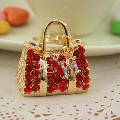 Keychains For Keys Crystal Beautiful Handbag Purse Pendant Keychain High Grade Fashion Jewelry Metal Holder Fhf0099 In Key Chains From