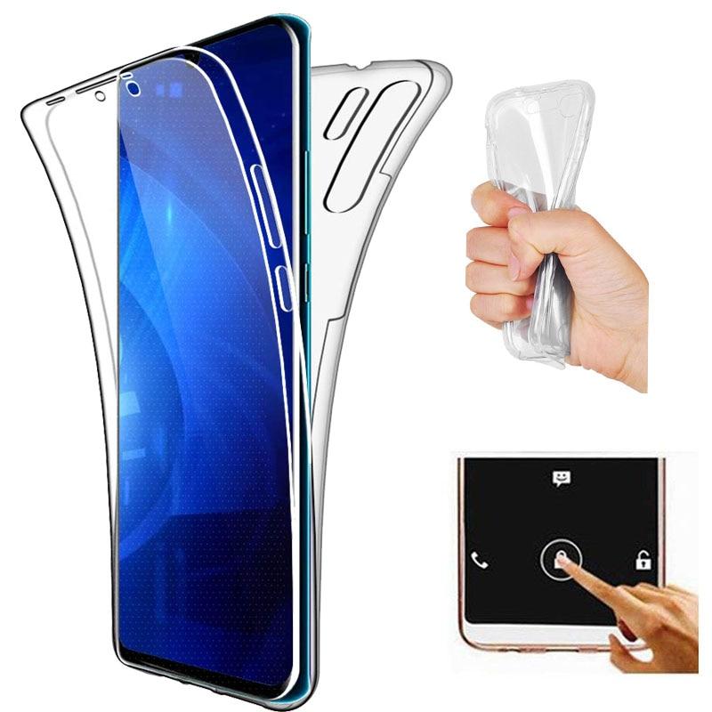 Funda suave transparente de cuerpo completo de 360 grados para Huawei P30 Pro P30 Lite Y6 Y9 2019, funda de silicona para teléfono con protección completa