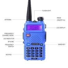 Original Zastone V8 Two Way Radio Walkie Talkie Ham Amateur Radio 128 channels 136-174mhz 400-520mhz Handheld Radio
