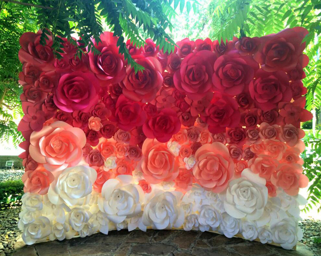 large paper flowers paper flower backdrop giant paper flowers