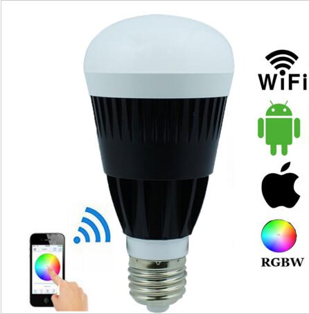 ФОТО Magic Home Wireless Wifi E27 10W RGBW RGBWW LED Bulbs Smartphone App Remote Control Dimmable Bulbs For IOS Android
