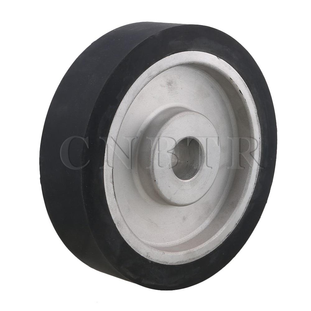 CNBTR 200mm Aluminum Core Belt Grinder Rubber Wheel for Bearings Belt Grinder 100 100mm grooved rubber wheel belt grinder part