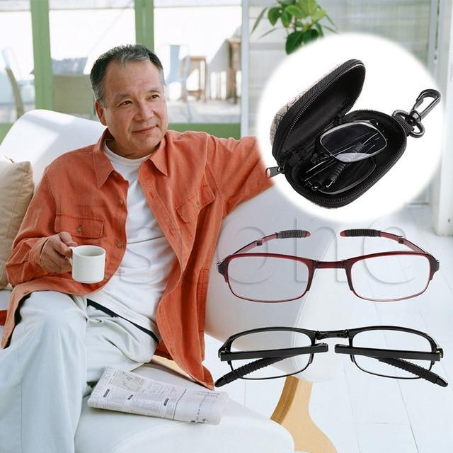 1 pcs Unisex Foldable Reading Glasses Folded Hanging +1 +1.5 +2 +2.5 +3 +3.5 +4.0 hot