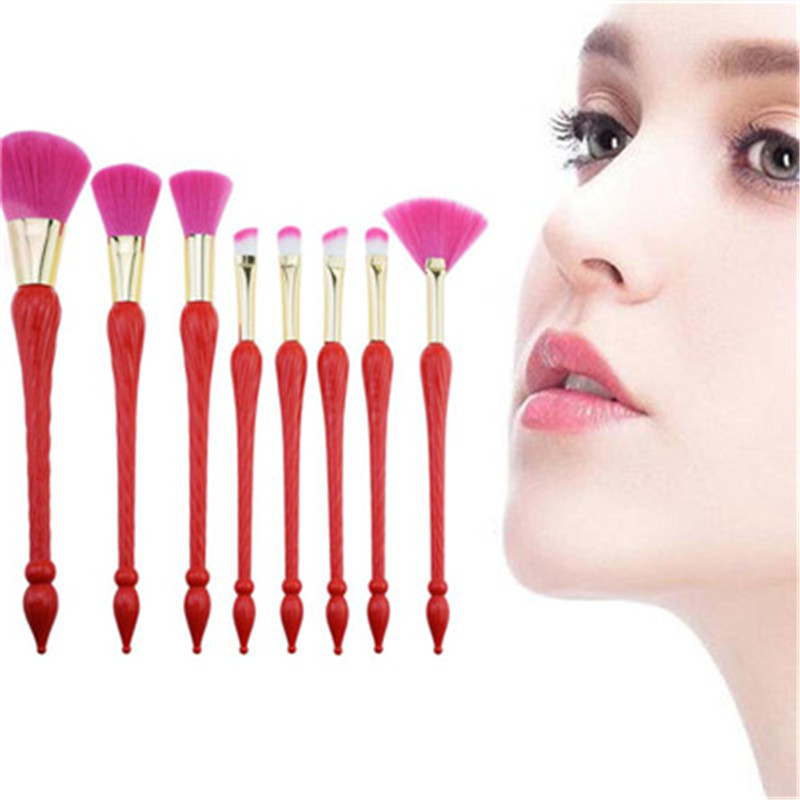 8Pcs Lip Eyeshadow Makeup Brush Wool Fiber high-grade Wool Fiber Cosmetic Makeup Eyeshadow Brush 2018 women Fashion 500g cosmetic grade 99