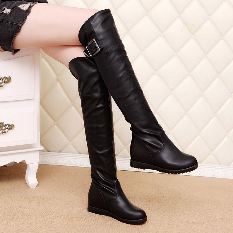 Online Get Cheap Flat Leather Thigh High Boots -Aliexpress.com ...