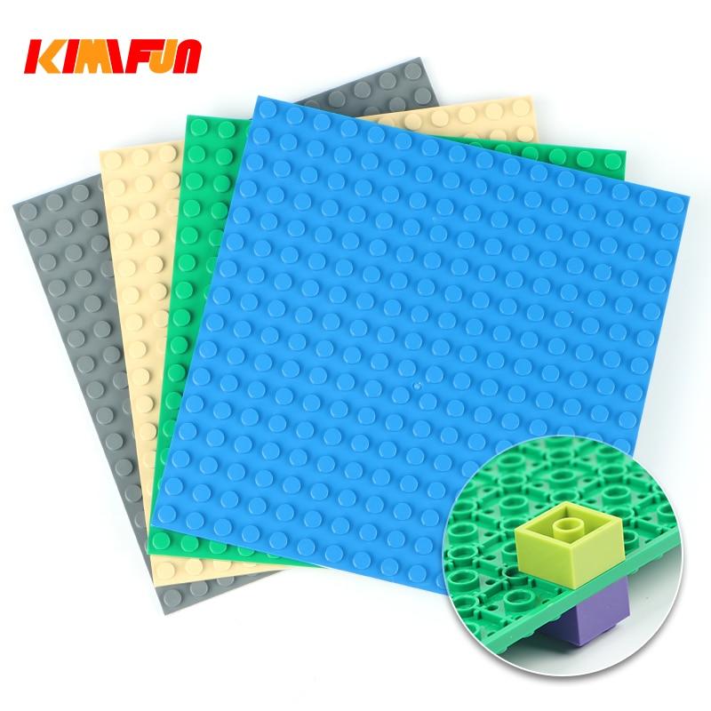 16*16 двусторонние точки, опорная пластина для кирпича, опорная доска, DIY строительные блоки, наборы игрушек, детали, совместимые с Lego
