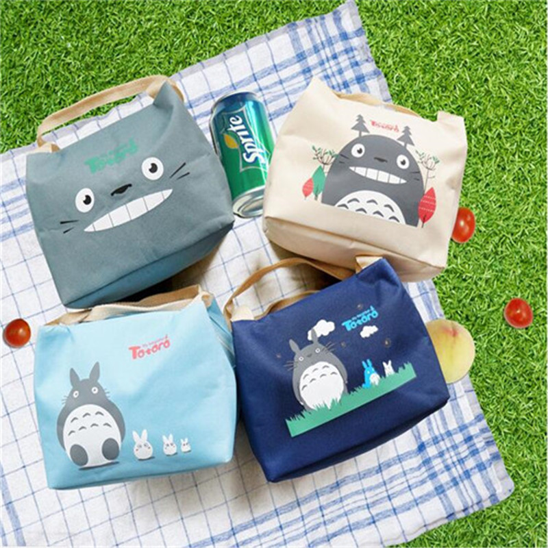New insulated bag Cartoon Totoro series Lunch Carry Storage Picnic Bag Pouch Lunch Bag for Women Kids