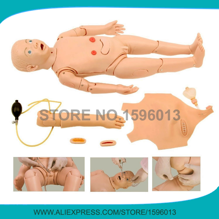 Full-functional 3-year-old Child Nursing Training Manikin,Advanced Pediatric Care Dummy bix h2400 advanced full function nursing training manikin with blood pressure measure w194