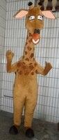 Симпатичные Браун Жираф Giraffa жираф Костюм Талисмана С Мало Жира Рога Ромб Розовые Уши