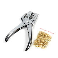 1pcs Hole Punch Hand Pliers Rivets Eyele Setting Punching Plier Tool With Easy Press Eyelets Grommets