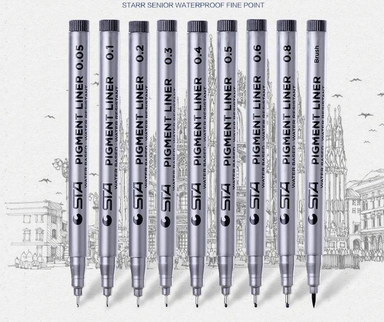 Needle Drawing Pen Cartoon Art Hook Fine Point Line Pen Crayon