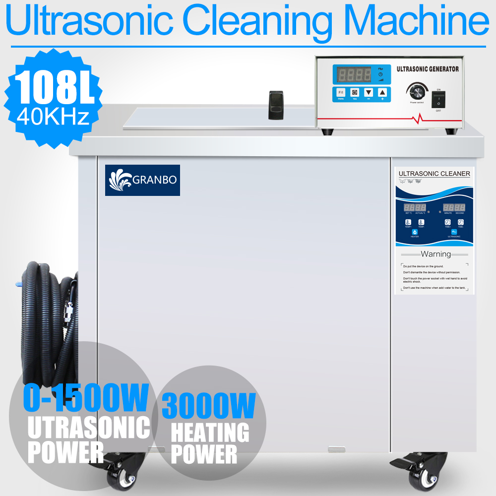 Digital Ultrasonic Cleaner Bath 15l Engine Oil Rust Parts Circuit 50w 220v Generator 108l 1500w 40khz Large Customized Ultrasound Cleaning Machine Remove Industrial
