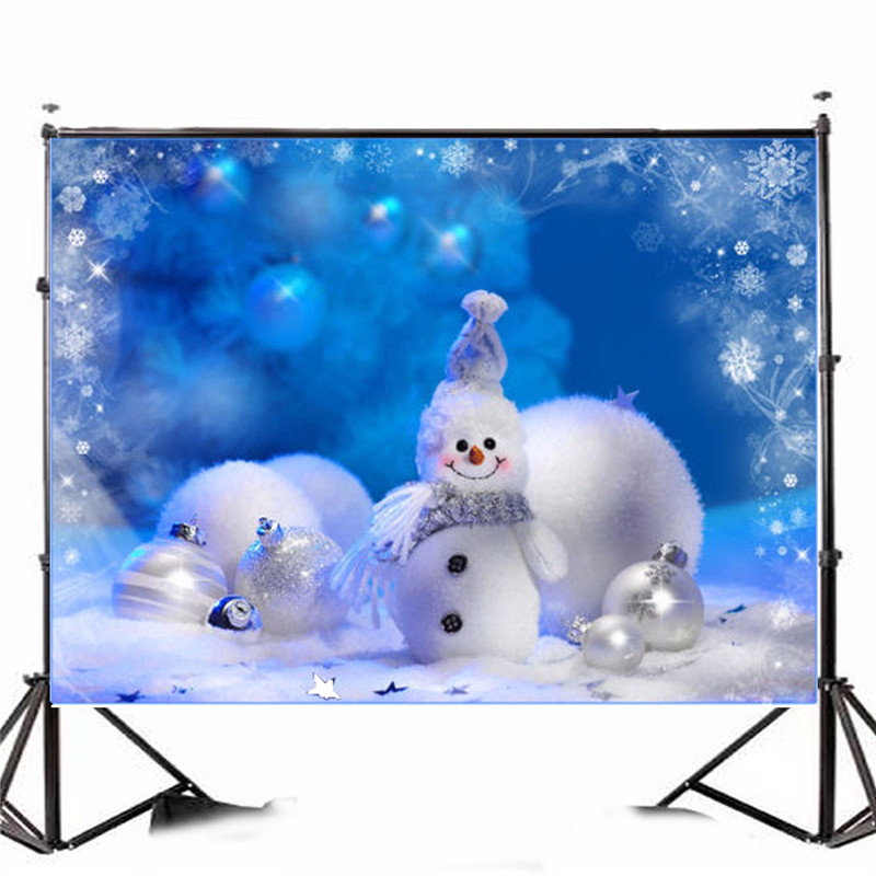 7X5FT Vinyl Photographic Background Christmas Snowman Photographic Backdrops For Studio Photo Props 2.1x1.5m waterproof new promotion newborn photographic background christmas vinyl photography backdrops 200cm 300cm photo studio props for baby l823