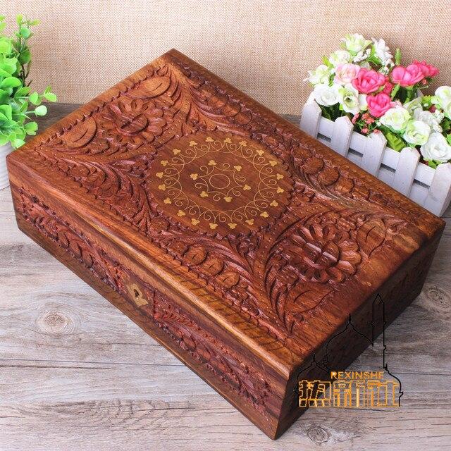 Pakistan imported hand carved jewelry box jewelry box jewelry with