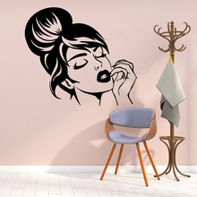 Carved woman Wall Sticker Removable Stickers Diy Wallpaper Nursery Kids Room Decor Decoration