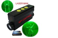DJ lighting Focusable Stage Double head laser beamer stage props 532nm Green Laser Sword laser man show Dual Direction light