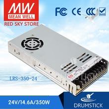 Sabit ortalama kuyu LRS 350 24 24V 14.6A LRS 350 350.4W tek çıkışlı anahtarlama güç kaynağı