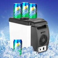 Grande Promotion Mini 6L Voiture Congélateur Réfrigérateur Refroidisseur Réfrigérateur 12 V Portable Chaleur Réchauffement Multi-Fonction Anti-Pourri garder au Frais Chaud