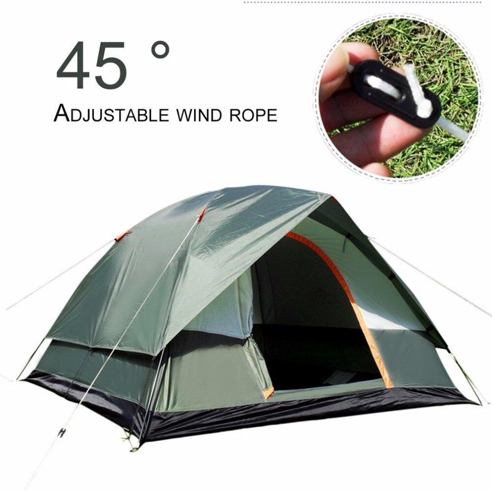 3-4 personne Brise-Vent Camping Tente Double Couche Étanche Pop Up Ouvert Anti UV Tentes Touristiques Pour Randonnée En Plein Air plage Voyage Tienda