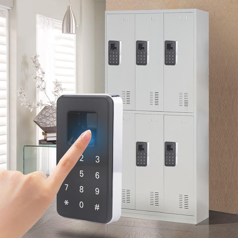 Electronic Magnetic Keypad Fingerprint Cabinet Locker Drawer Door Locks with 99 Fingerprint User Capacity