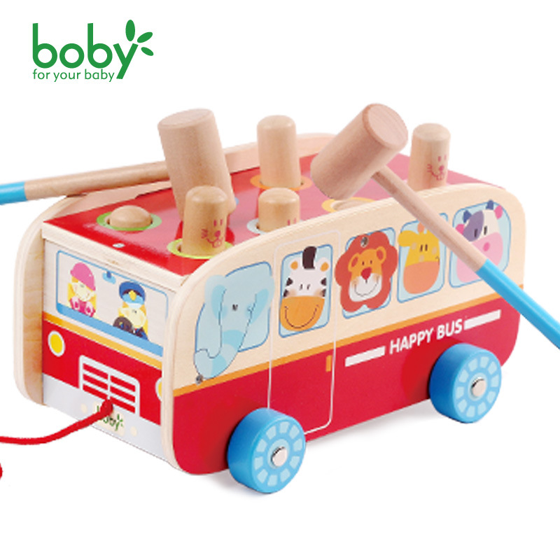 Boby Colorful Fun Vehicle Wooden Toys Hammering Hammer Wood Toy Early Learning Educational Toys For Children Wooden Musical children wooden mathematics puzzle toy kid educational number math calculate game toys early learning counting material for kids