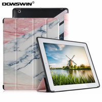 For Ipad 2 3 4 Case DOWSWIN Marble Pattern Pu Smart Cover Can Wake Up And