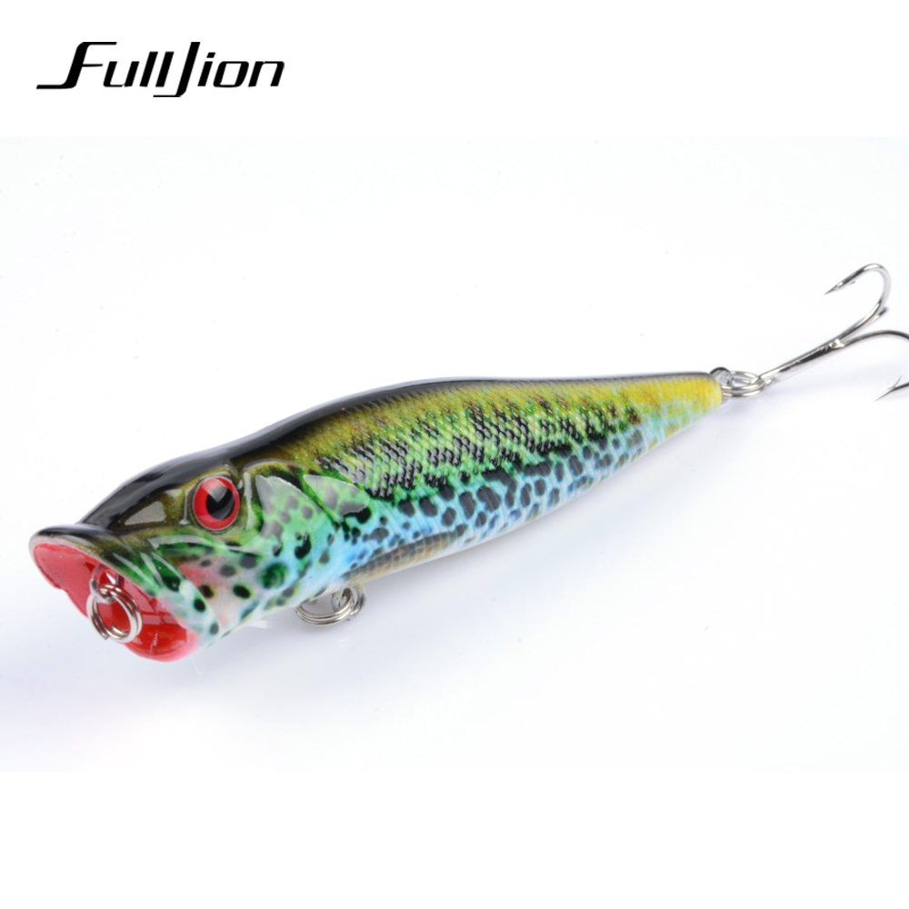 Fulljion Fishing Lures Popper Painting Series Hard Baits Wobblers - Fiske - Bilde 4