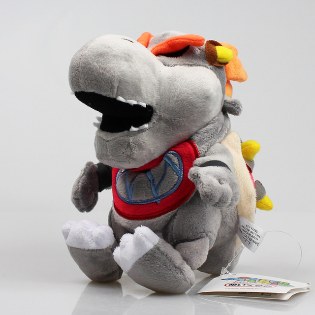 Super Mario Bros Gray King Bones Bowser Jr Koopa Plush Toys Koopa Baby BB Plush Stuffed Soft Dolls Great Gift 18cm