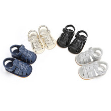 Summer Baby Boys Sandals  PU Leather Shoes Kid Toddler Soft Sole  Casual Sneakers Footwear 0~18Month