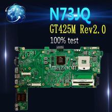 Amazoon для Asus N73JN N73JQ N73JF материнская плата 60-NZXMB1100-E18 основная плата 8 памяти Rev2.0 материнская плата 100% Протестировано