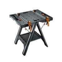 Мобильный портативный деревообрабатывающий стол для пилы складной инструмент Рабочий стол складные быстрые зажимы