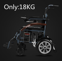 Good Price Super Light Folding Electric Wheelchair With Lithium Battery