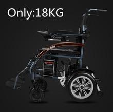 Бесплатная доставка хорошая цена супер легкий складное Электрическое Кресло-коляска с литиевой батареей