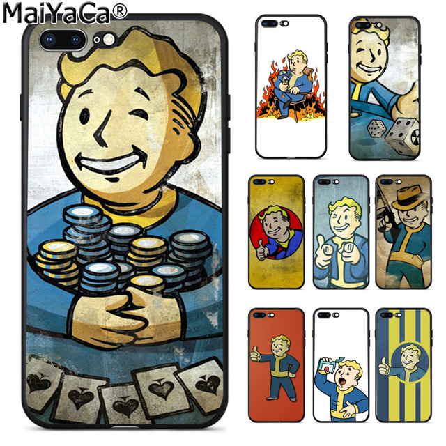 Us 1 33 33 Off Maiyaca Black Isle Studios Game Fallout New Vegas Boy Retro Phone Case For Apple Iphone 8 7 6 6s Plus X 5 5s Se Xs Xr Xs Max In