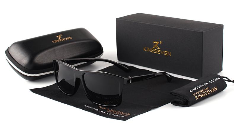 KINGSEVEN Brand Vintage Style Sunglasses Men UV400 Classic Male Square Glasses Driving Travel Eyewear Unisex Gafas Oculos S730 2