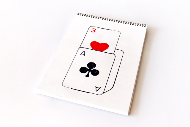 Free shipping large size 39*27cm drawing paper rise card prediction magic tricks magic props
