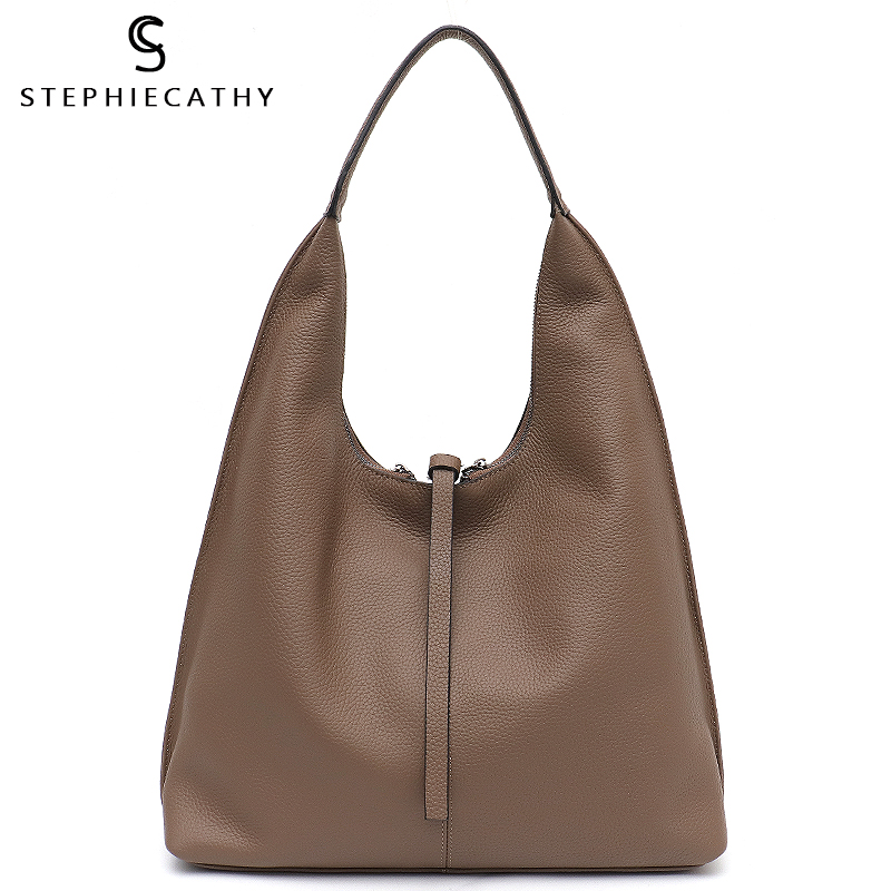 SC Genuine Leather Hobo Bags Women Casual Large Tote String Cowhide Shoulder Bags High Quality Brand Handbag Coin Purse Liner Pakistan