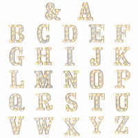 New Plastic Alphabet LED Night Light Marquee Sign Letter Lights Lamp Home Club Outdoor Indoor Wall Decoration