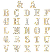 Plastic lamp Alphabet led letters Night Light Marquee Sign Letter Lights Lamp Home Club Outdoor Indoor Wall Decoration