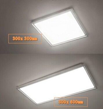 משולב תקרת שדרית led תקרת לוח אור 300x300 300x600 600x600 60x60 300x1200 קר לבן/חם לבן 2 יח'\חבילה