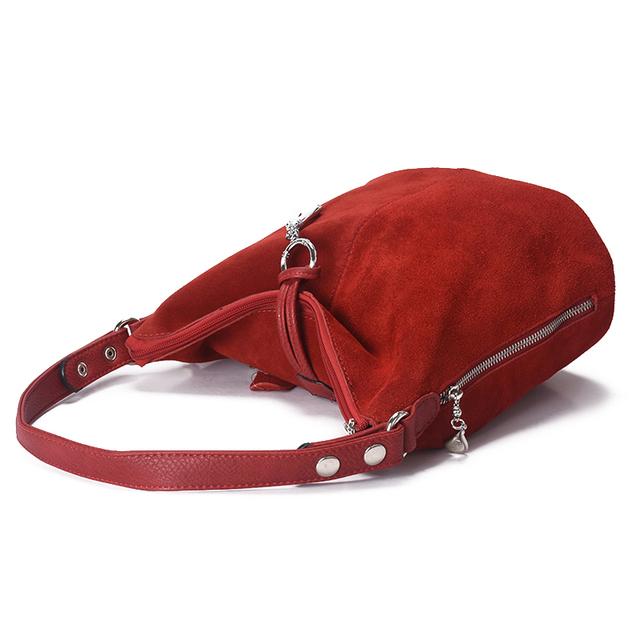 2017 Fashion Women Split Leather Shoulder Bag Female Suede Casual Crossbody handbag Casual Lady Messenger Hobo Top-handle Bags