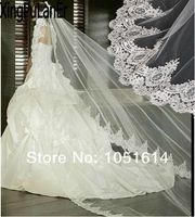 Bride Lace Long Veil Luxury Lace White Wediding Bridal Cathedral Veil Vintage Lace 300CM Long Veil