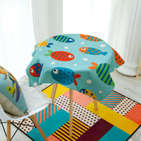Bubble Fish Cotton Linen Tablecloth Table Table Tea Table Cute Cartoon Tablecloth Tablecloth