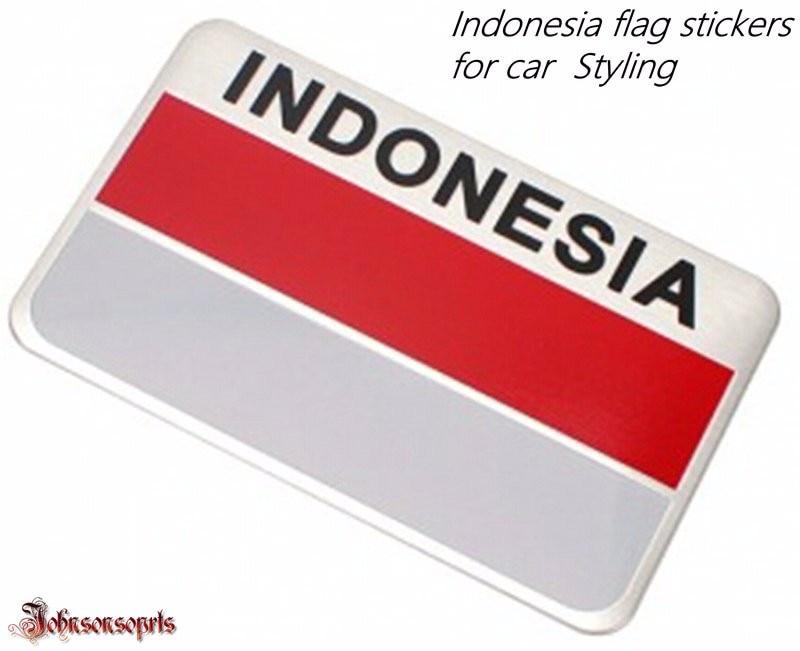 Grosir 10 pcs malaysia uni emirat arab indonesia flag sticker aluminium alloy flag badge decal stiker mobil styling mobil di mobil stiker dari mobil